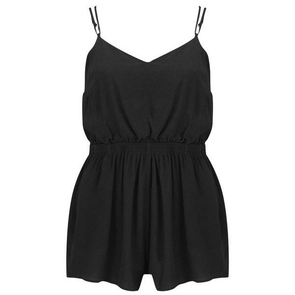 MINKPINK Women's Summer Vacay Playsuit ($66) ❤ liked on Polyvore featuring jumpsuits, rompers, dresses, jumpsuit, playsuit, black, black jump suit, playsuit romper, black jumpsuit romper and black romper