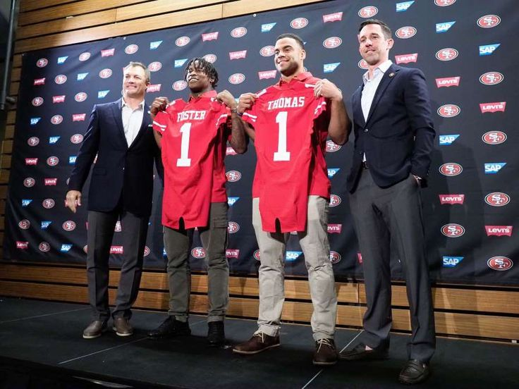 2017 NFL Draft Final Grades: How did your team do?  April 30, 2017:    SAN FRANCISCO 49ERS:    Grade: A- Nine absolutely perfect picks. Grade A picks. I particularly love the Reuben Foster and George Kittle selections. Then... QB C.J. Beathard in the third round. I don't know many people who had him as a draftable prospect — we all hope he works out as an NFL player, but that's an F pick, bringing down the 49ers' winning grade.