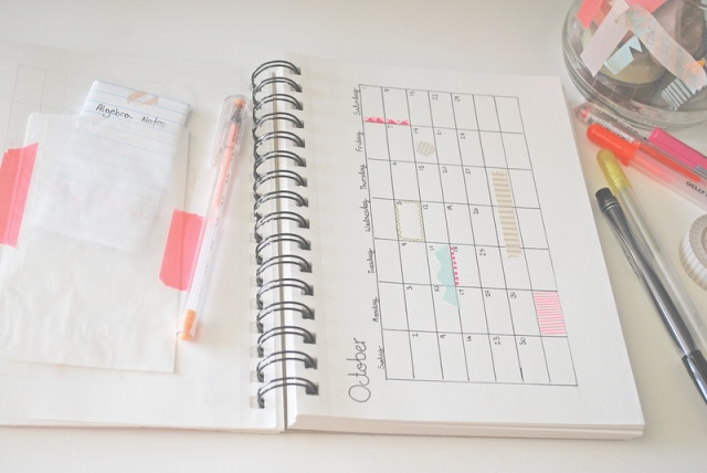 Design your own planner out of a sketchbook