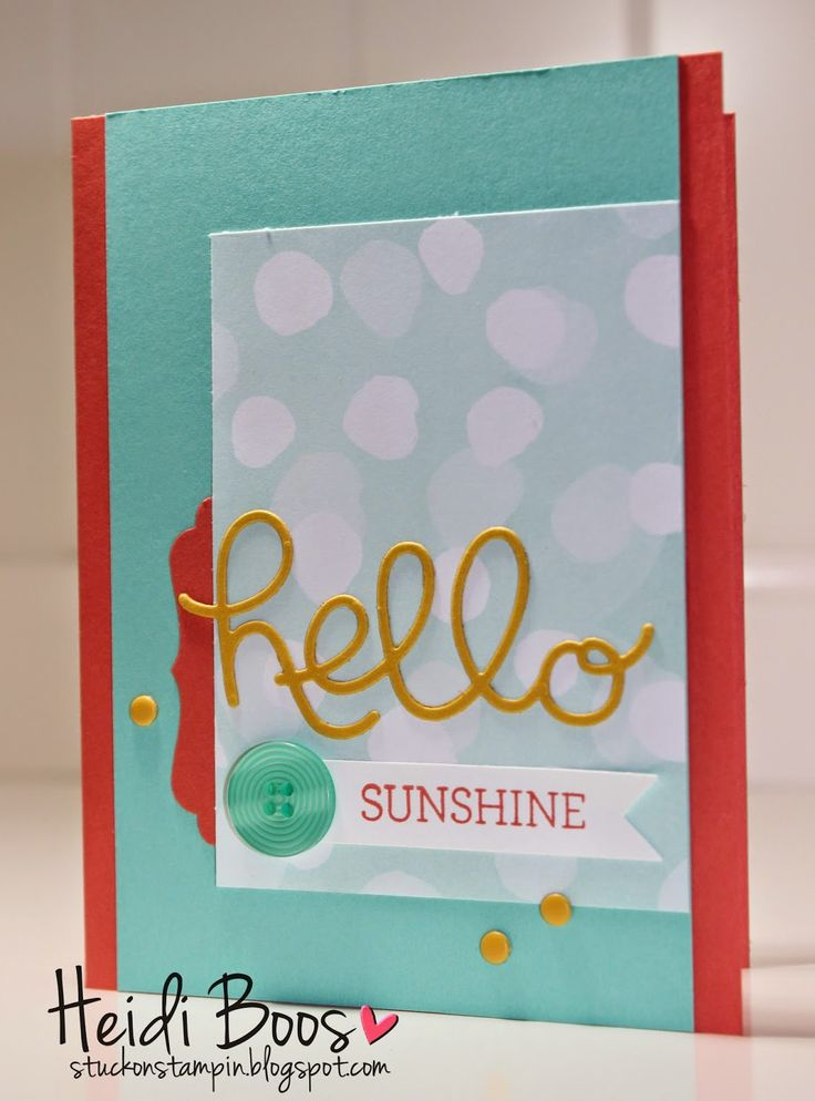 Stuck on Stampin': SSINK Blog Hop - 2015 Occasions Catalog, Stampin' Up!, Heidi Boos, Crazy About You