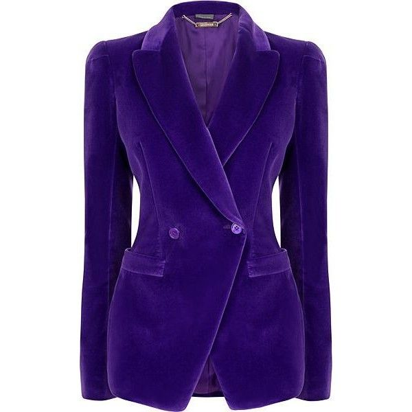 Alexander McQueen PURPLE velvet blazer, jacket ❤ liked on Polyvore featuring outerwear, jackets, blazers, alexander mcqueen, purple velvet jacket, blazer jacket, purple blazer jacket and purple blazer