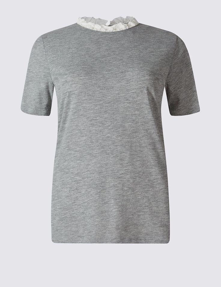 Cotton Blend Short Sleeve T-Shirt | Marks & Spencer London