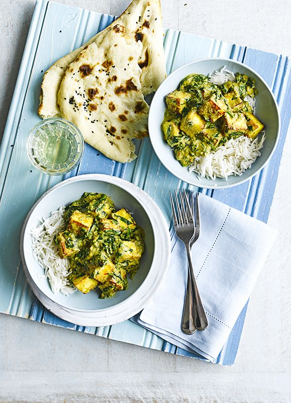 Paneer palok. Paneer makes the best vegetarian Indian meal. Both filling and interesting, this recipe is quick and easy and full of Indian spices. Serve with rice and naan on the side.