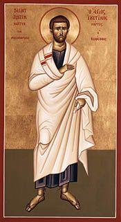 Justin Martyr - OrthodoxWiki - links to his writings