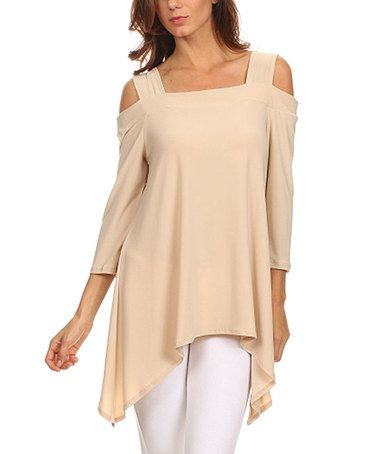 This Taupe Cutout Sidetail Tunic is perfect! #zulilyfinds