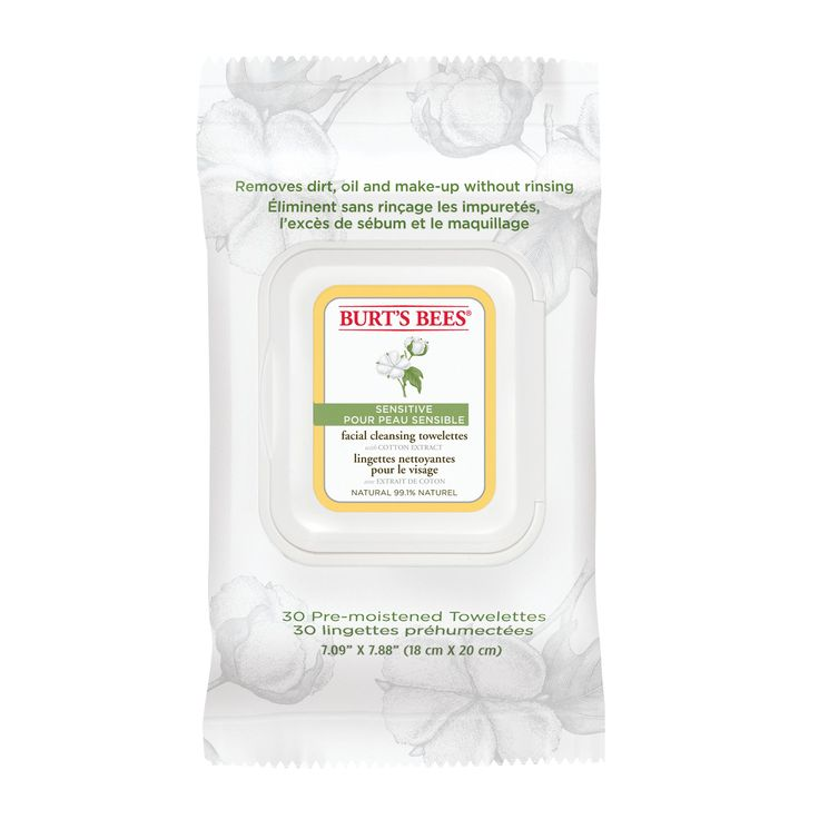 Skin-friendly has never felt nicer thanks to Burt's Bees handy towelettes. In one simple step, Burt's Bees Sensitive Facial Cleansing Towelettes with Cotton Extract kindly remove your make-...