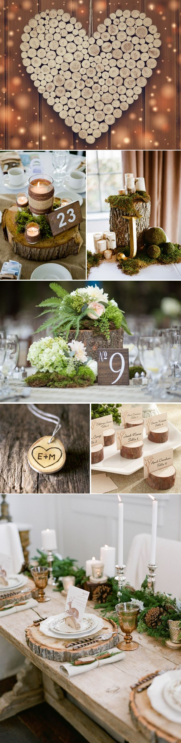 Decoracion de boda con troncos de madera #rusticdecor #rusticweddingdecor #decoracionrustica #decoracionbodas