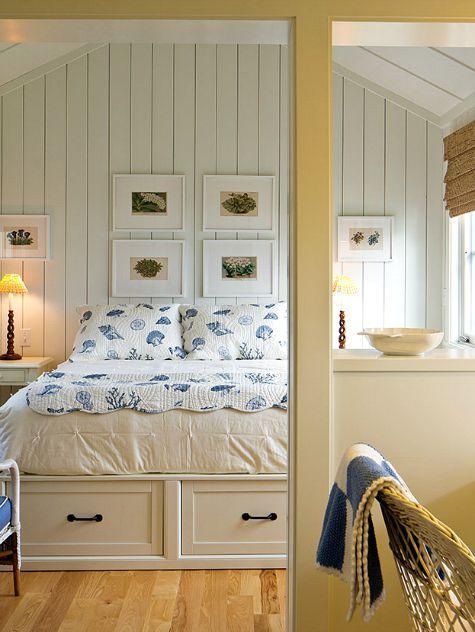 slaapkamers kust, nautische slaapkamer en strand