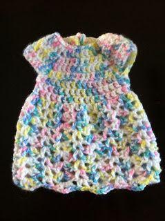 Crochet Preemie Dress - Free Pattern | Not My Nana's Crochet!