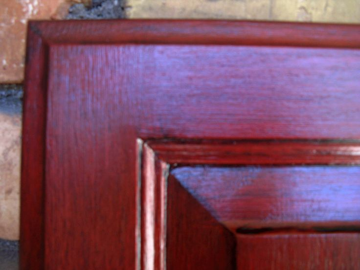 Red Painted Furniture Black Glazing Red Cabinets With