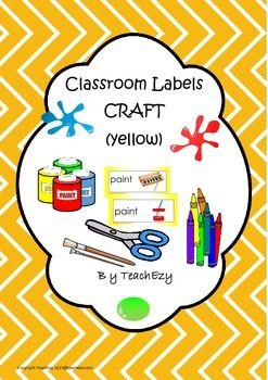 Labels for Craft Items Yellow