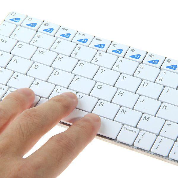 Bluetooth Ασύρματο Πληκτρολόγιο για Smartphone & Tablet ΟΕΜ - myThiki.gr - Θήκες Κινητών-Αξεσουάρ για Smartphones και Tablets - Χρώμα λευκό