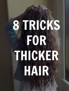 how to get thicker hair! I always love to find ways to make my hair thicker and healthier.