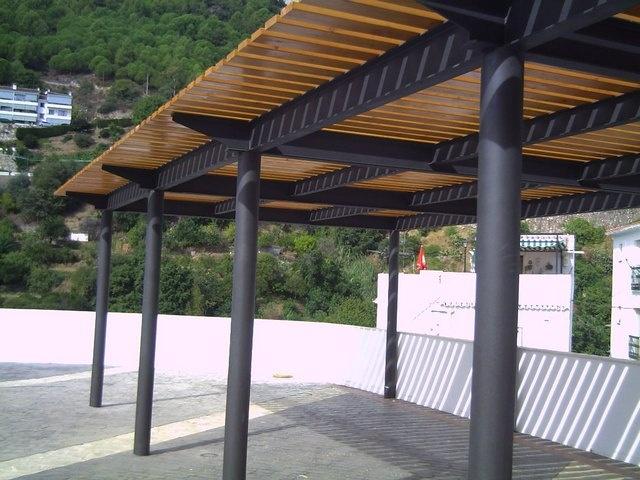 Gazebos y pergolas sojag portland wall mounted gazebo - Gazebos de madera ...