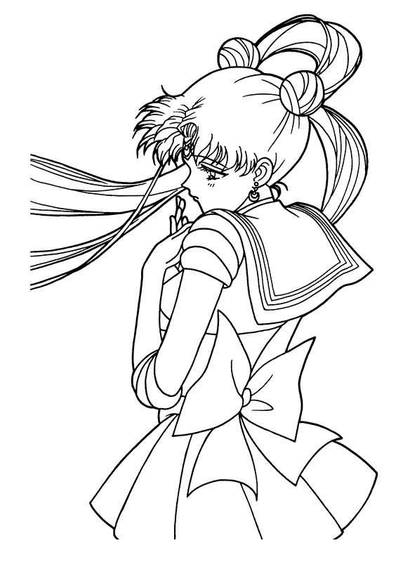 printable coloring pages sailor moon sailor moon coloring pages 5 - Sailor Moon Coloring Pages