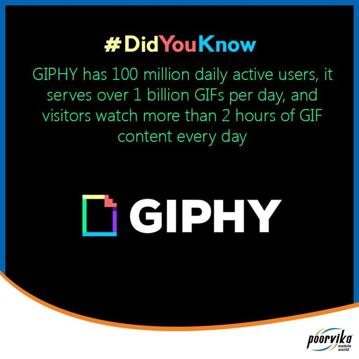 #DYK- #GIPHY- It is an online #Database and search engine that allows users to search for and share animated #GIF files!! Here are some Mindblowing Statistics about GIPHY!! #DidYouKnowFacts from Poorvika Mobiles #electronics #mobiles #mobilesaccessories #laptops #computers #games #cameras #tablets   #3Dprinters #videogames  #smartelectronics  #officeelectronics