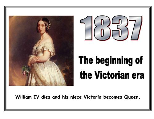 Victorian Timeline display - A Victorian timeline display that show the key events that occured during Queen Victoria's reign. (Updated to correct the error that eatkins pointed out.