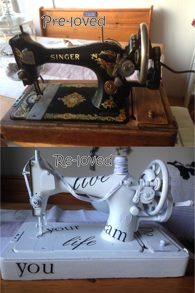 A restyled old Singer sewing machine.
