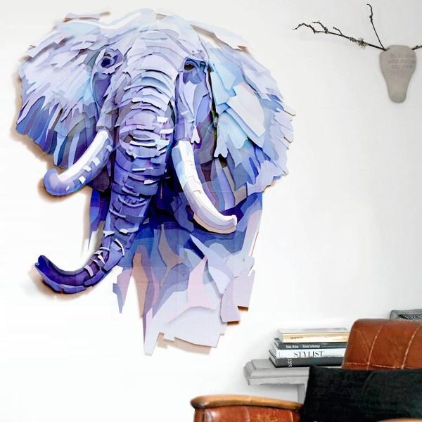 elefante poligonal