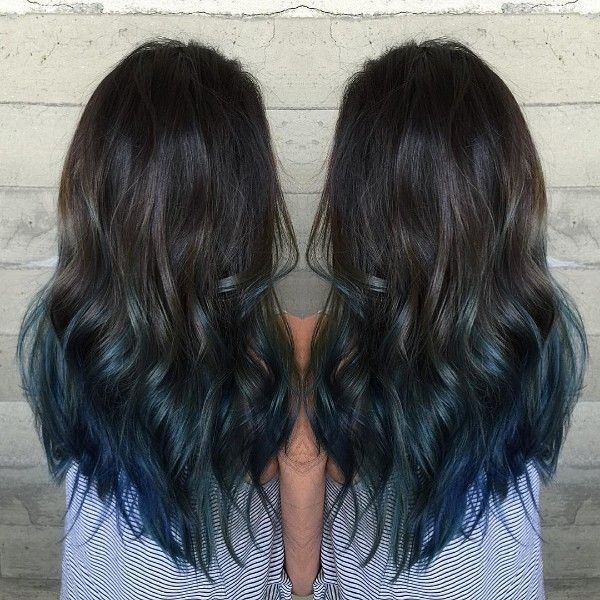 blue and black hair styles