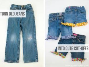 recyclage des shorts en jean avec un ourlet color rangement pinterest shorts en jean. Black Bedroom Furniture Sets. Home Design Ideas