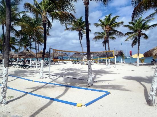 Aruba MUST do #8: Play (and kick some serious butt) at the beach volleyball courts at the Occidental Grand! #aioutlet