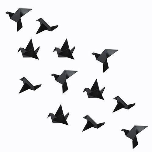 Origami blackbird visual. origami, diy, paper art