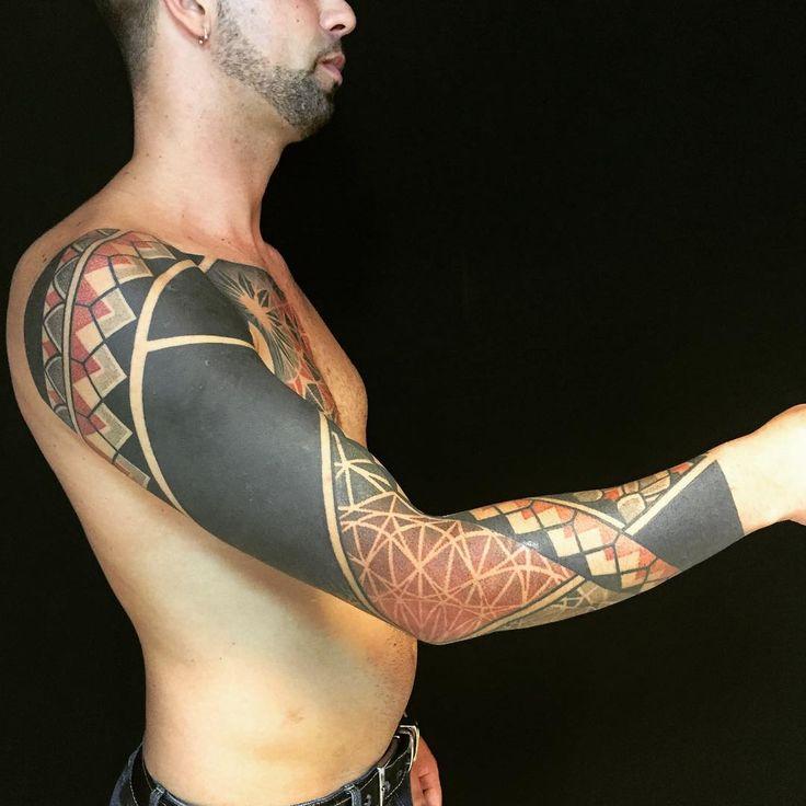 Blackwork Dotwork Tattoo Sleeve