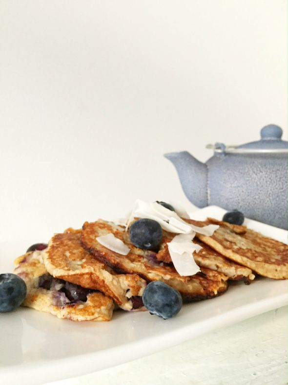 I Love Health | Healthy blueberry coconut pancakes | http://www.ilovehealth.nl