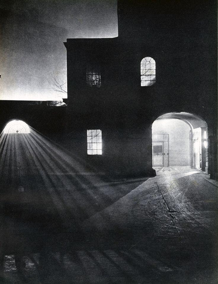 """St. Bartholomew's Hospital, City."" by Harold Burdekin, from the book London Night, 1934"