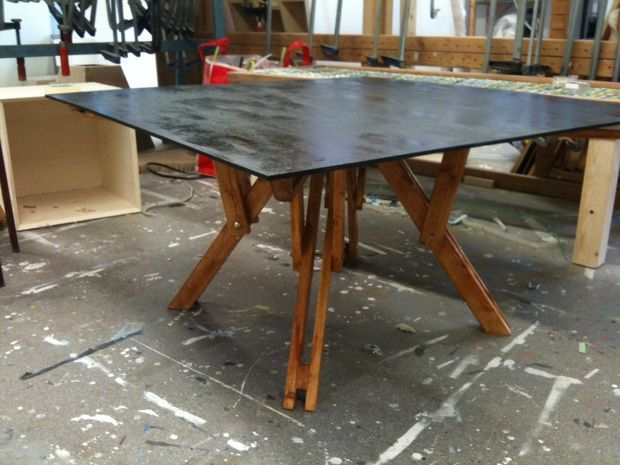 Folding Coffee Table : Picture of Finishing touch