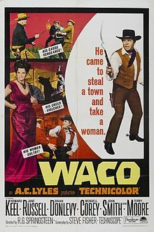 Howard Keel, Jane Russell, WACO, Movie Poster