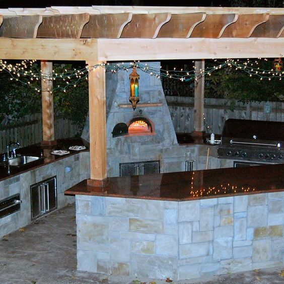 17 best ideas about brick oven outdoor on pinterest for Outdoor brick kitchen designs
