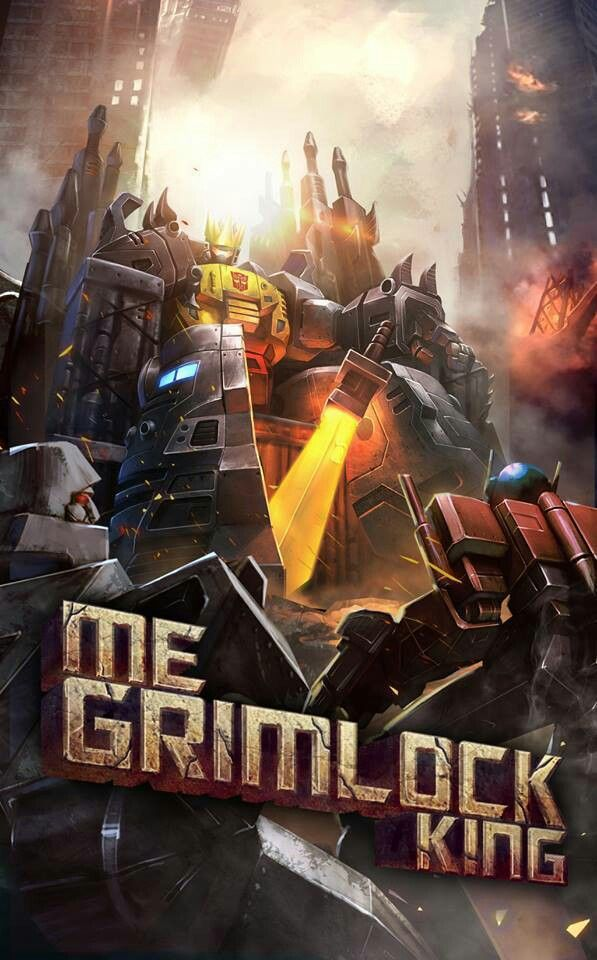 King Grimlock.  I Really wish they would keep this shit in ENGLISH!  I can understand the Japanese original text but for the love of god, why Spanish?  I mean really?