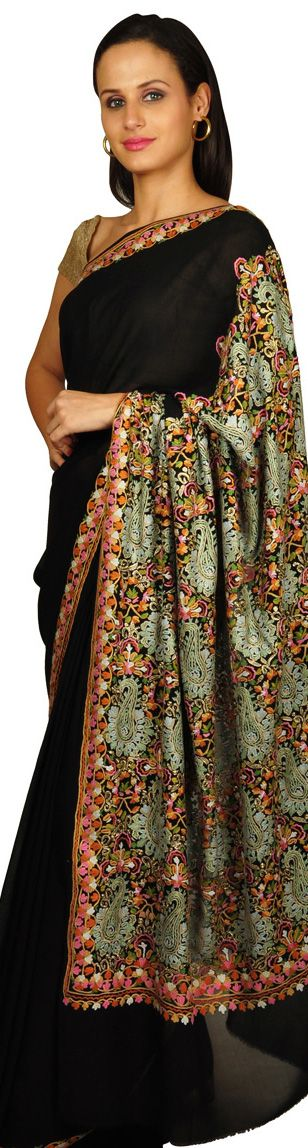 Saree with Aari/ Kashmiri embroidery