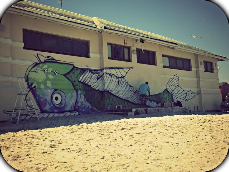 Grafitti art - Muizenberg beach South Africa