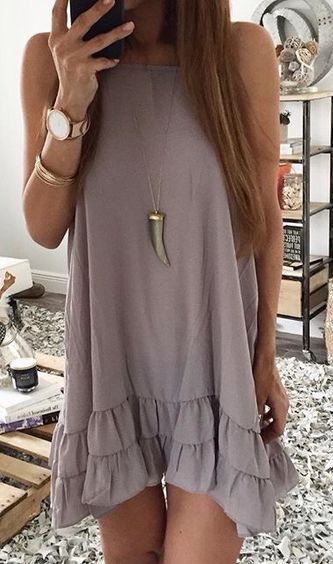 #summer #fashion purple dress