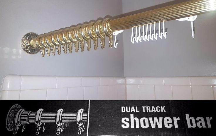 Ornate '70s shower curtain rod