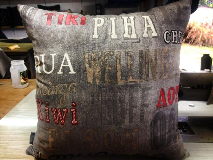 Famous New Zealand towns & city's , cushion by lucy