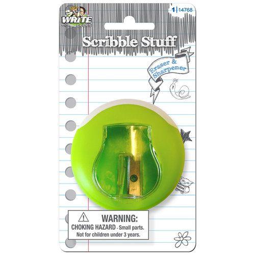 Sharpener with Eraser   Love these ...