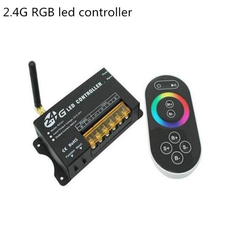 Lighting accessories 249 pinterest 24g wireless rf rgb led strip controllerdc5v 12v 24v rgb led module mozeypictures Choice Image