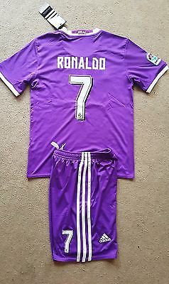 Uk postage! 2016-2017 real #madrid boys football kit #ronaldo size 24(8-10 #years,  View more on the LINK: http://www.zeppy.io/product/gb/2/322103065930/
