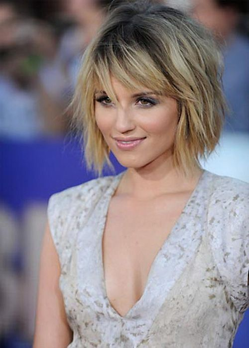 Short Hairstyles for Round Faces and Thin Hair with Bangs