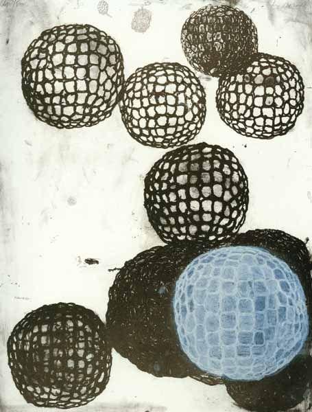 jikankokoro:        sandres        Lithograph on handmade toyoshi paper, 1984 Terry Winters
