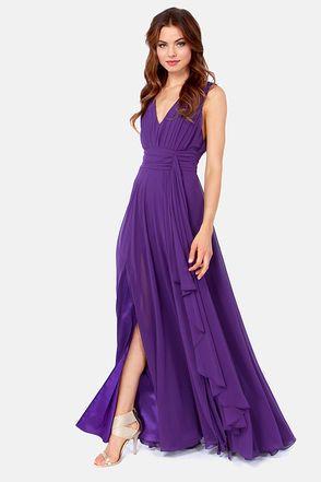 Rubber Ducky Just a Dream Purple Dress $147 :: halloween wedding bridesmaids dress