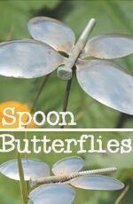 DIY Spoon Butterfly Garden Stakes