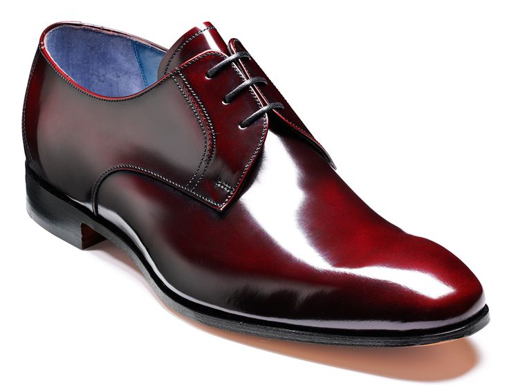 Barker Rutherford - Burgundy Cobbler Mens Hi-shine derby shoe http://www.robinsonsshoes.com/barker-rutherford.html