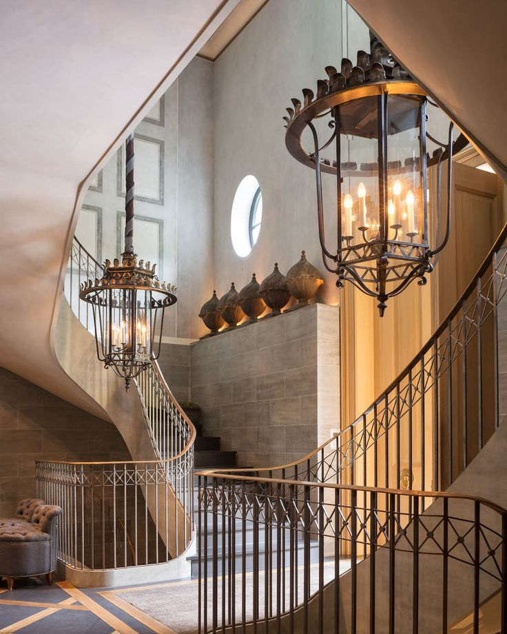 Top 70 Best Stair Railing Ideas: 17 Best Ideas About Luxury Staircase On Pinterest