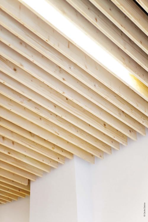 Best 25 modern offices ideas on pinterest modern office design modern office spaces and - Wood slat ceiling system ...