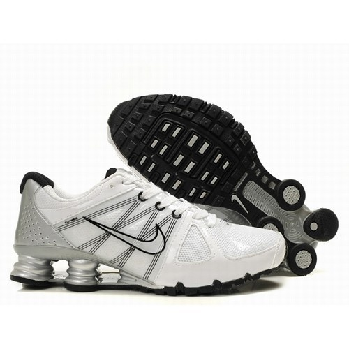 Nike Shox Agent Shoes White Silver Black Men Cheap At The Price